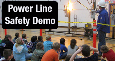 Schedule a power line safety demo for your school