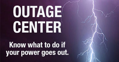Be prepared for storms and power outages